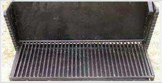 Vente de grill vertical en fer forg - Grille pour barbecue vertical ...