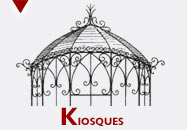 kiosque en fer forgé